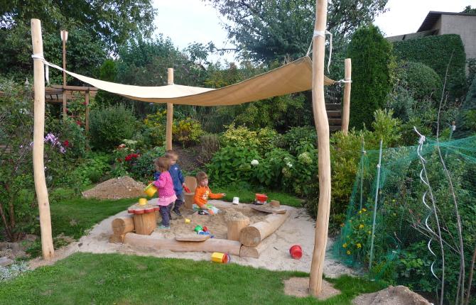 Sonnensegel Sandkiste | Garten | Pinterest | Gärten, Ausflüge Und ... Sandkasten Selber Bauen Ideen Tipps Garten Kinder Spiel