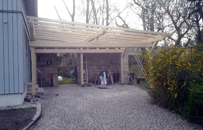 Freistehende Carports zimmerei holzbau sebastian hoffmann dresden mit holz bauen